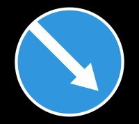 Знак 4.2.1 Объезд препятствия справа