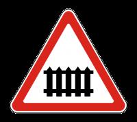 Знак 1.1 Железнодорожный переезд со шлагбаумом