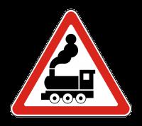 Знак 1.2  Железнодорожный переезд без шлагбаума