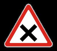 Знак 1.6 Пересечение равнозначных дорог
