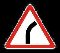 Знак 1.11.1 Опасный поворот