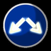 Светодиодный, активный знак 4.2.3 Д=700мм (на круге)
