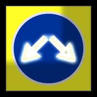 Светодиодный, активный знак 4.2.3 Д=700мм (на щите)
