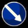 Светодиодный, активный знак 4.2.1, 4.2.2 Д=900мм (на круге)