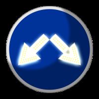 Светодиодный, активный знак 4.2.3 Д=900мм (на круге)