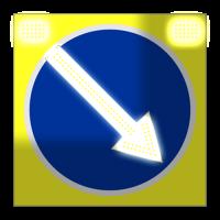 Светодиодный, активный знак 4.2.1, 4.2.2 Д=900мм (на щите, поворотная)
