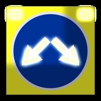 Светодиодный, активный знак 4.2.3 Д=900мм (на щите)