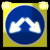 Светодиодный, активный знак 4.2.3 Д=1200мм (на щите)
