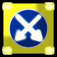 Светодиодный, активный знак 4.2.1, 4.2.2, 4.2.3 Д=1200мм (на щите)