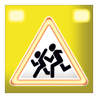 Светодиодный, активный знак 1.23 А=900мм (на щите)
