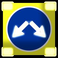 Светодиодный, активный знак 4.2.3 Д=700мм (на щите со стробоскопами)