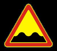 Знак 1.16 Неровная дорога (Временный)