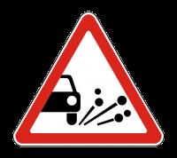 Знак 1.18 Выброс гравия