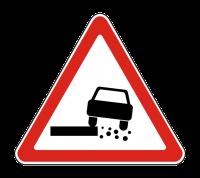 Знак 1.19 Опасная обочина