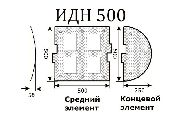 ИДН 500мм, средняя часть