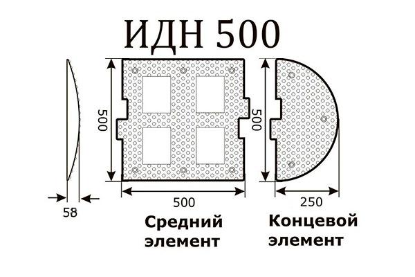 ИДН 500мм, концевая часть